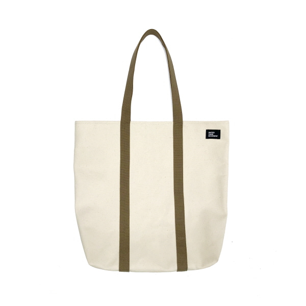DAILY TOTE BAG - white tan