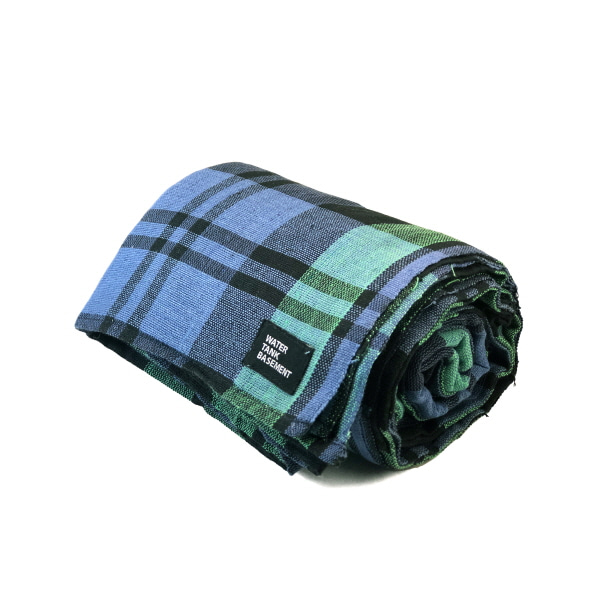 COTTON COVER - tartan check green