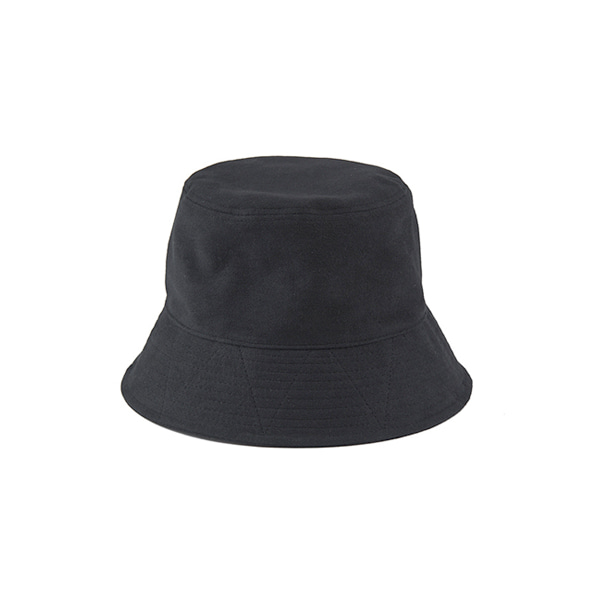 COTTON SUEDE BUCKET HAT - black