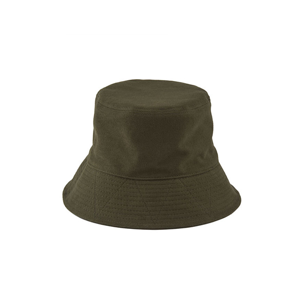 COTTON SUEDE BUCKET HAT - khaki
