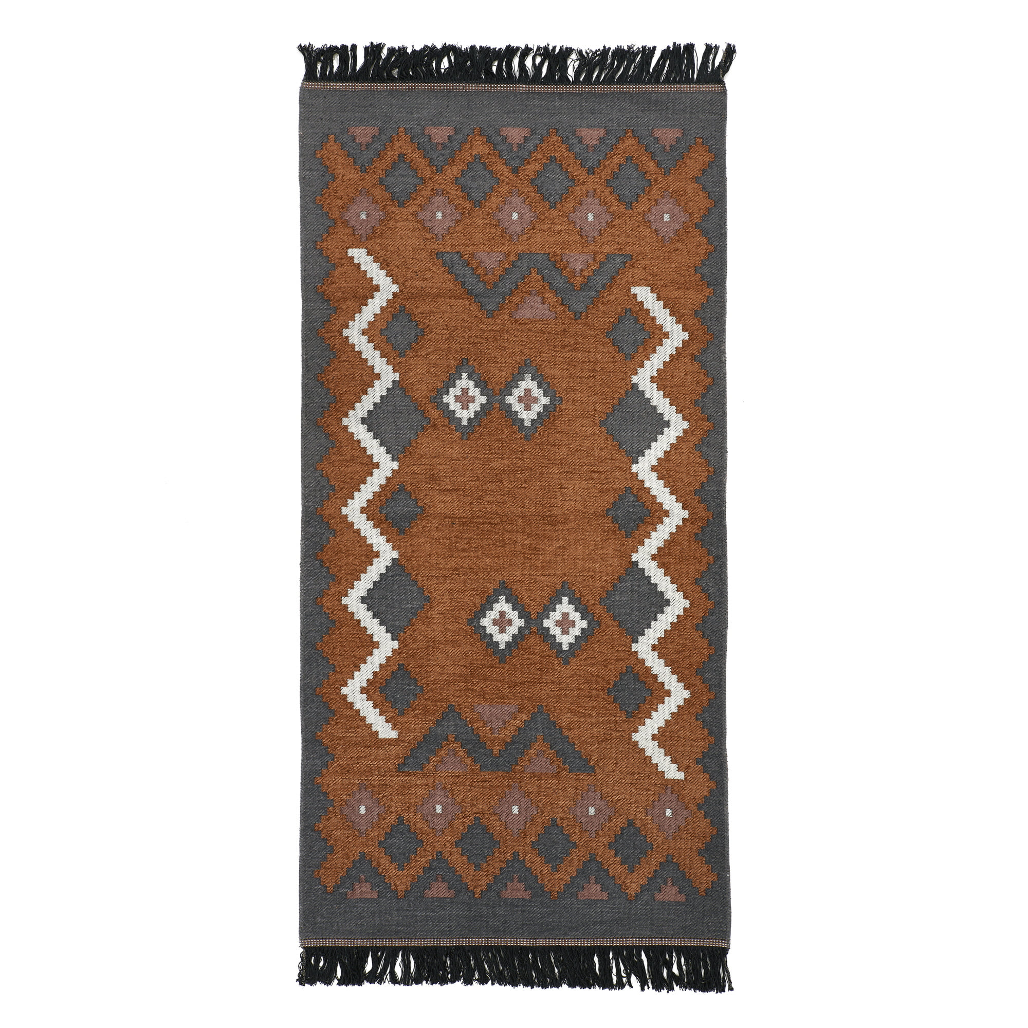 KILIM RUG(M) - brown gray