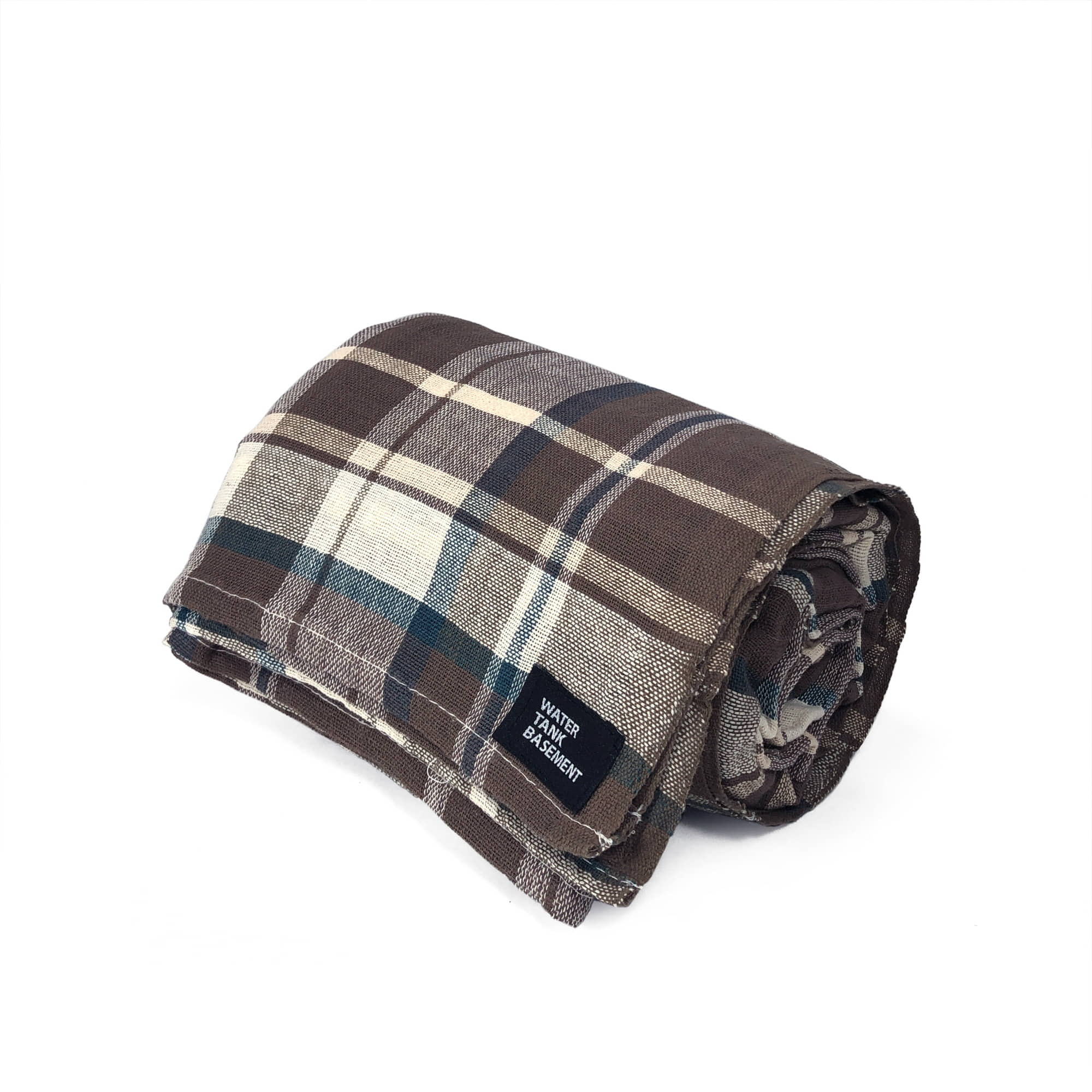 COTTON COVER - tartan brown