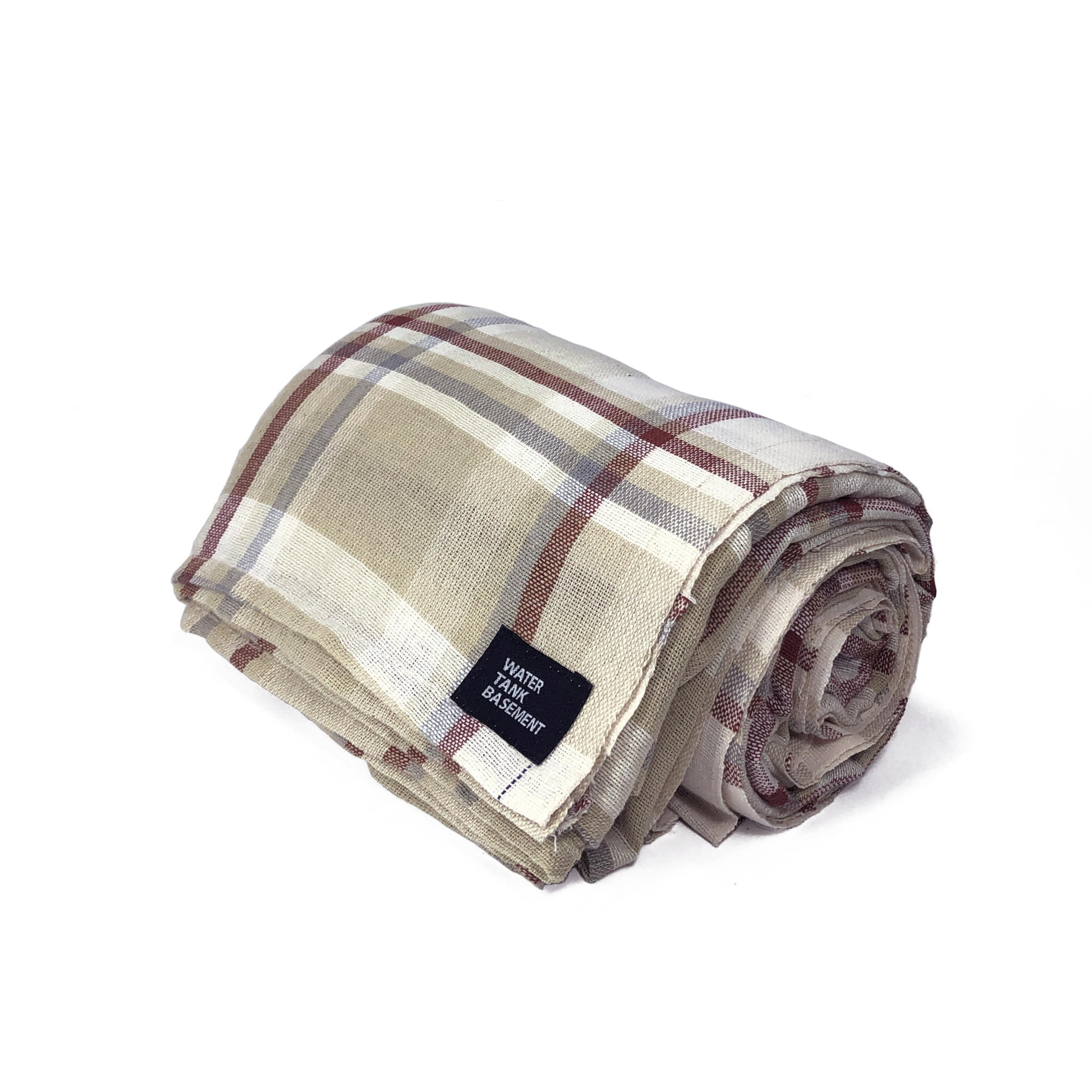 COTTON COVER - tartan beige