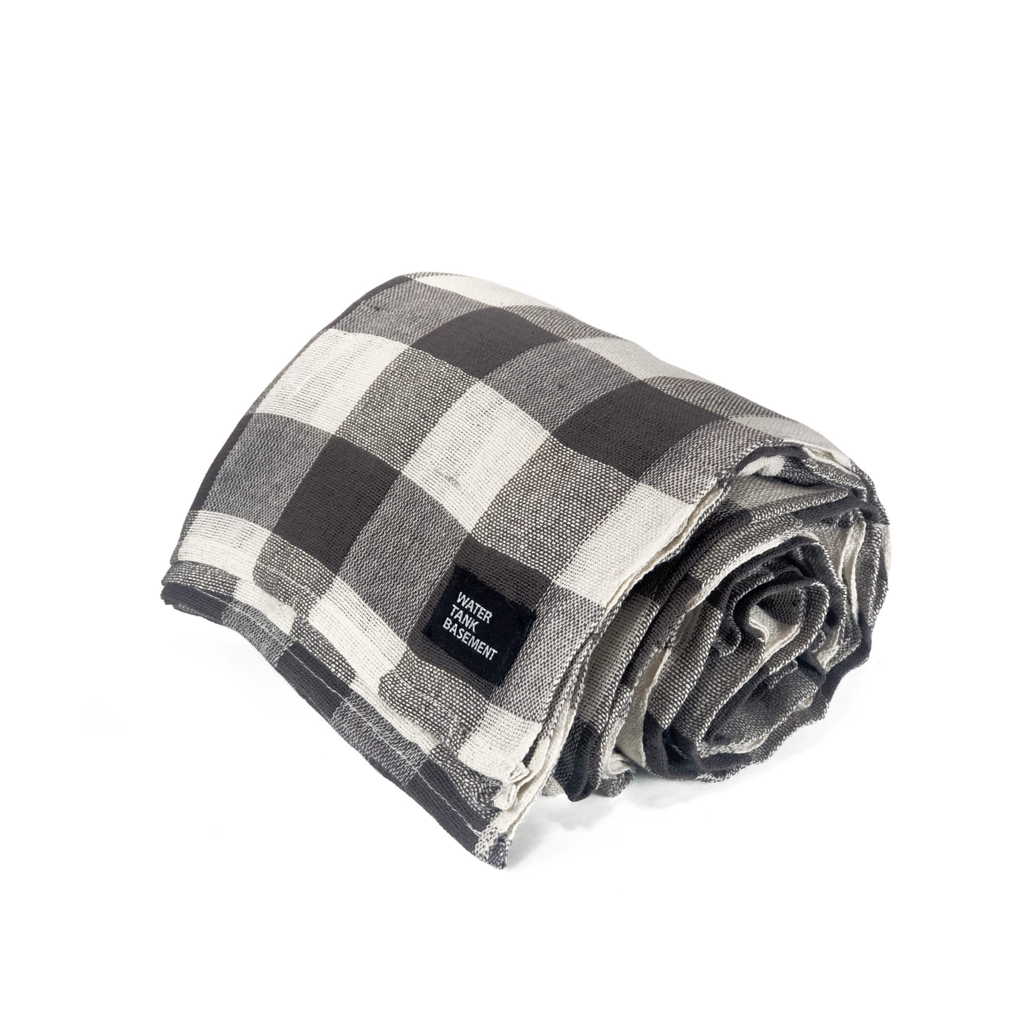 COTTON COVER - gingham brown