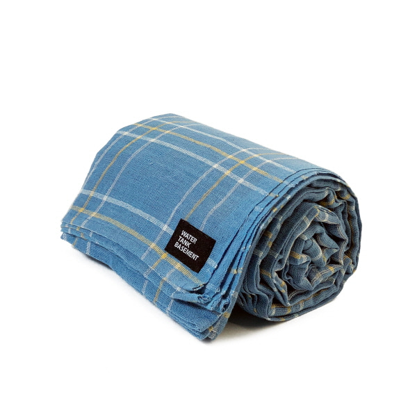 COTTON COVER - madras check blue