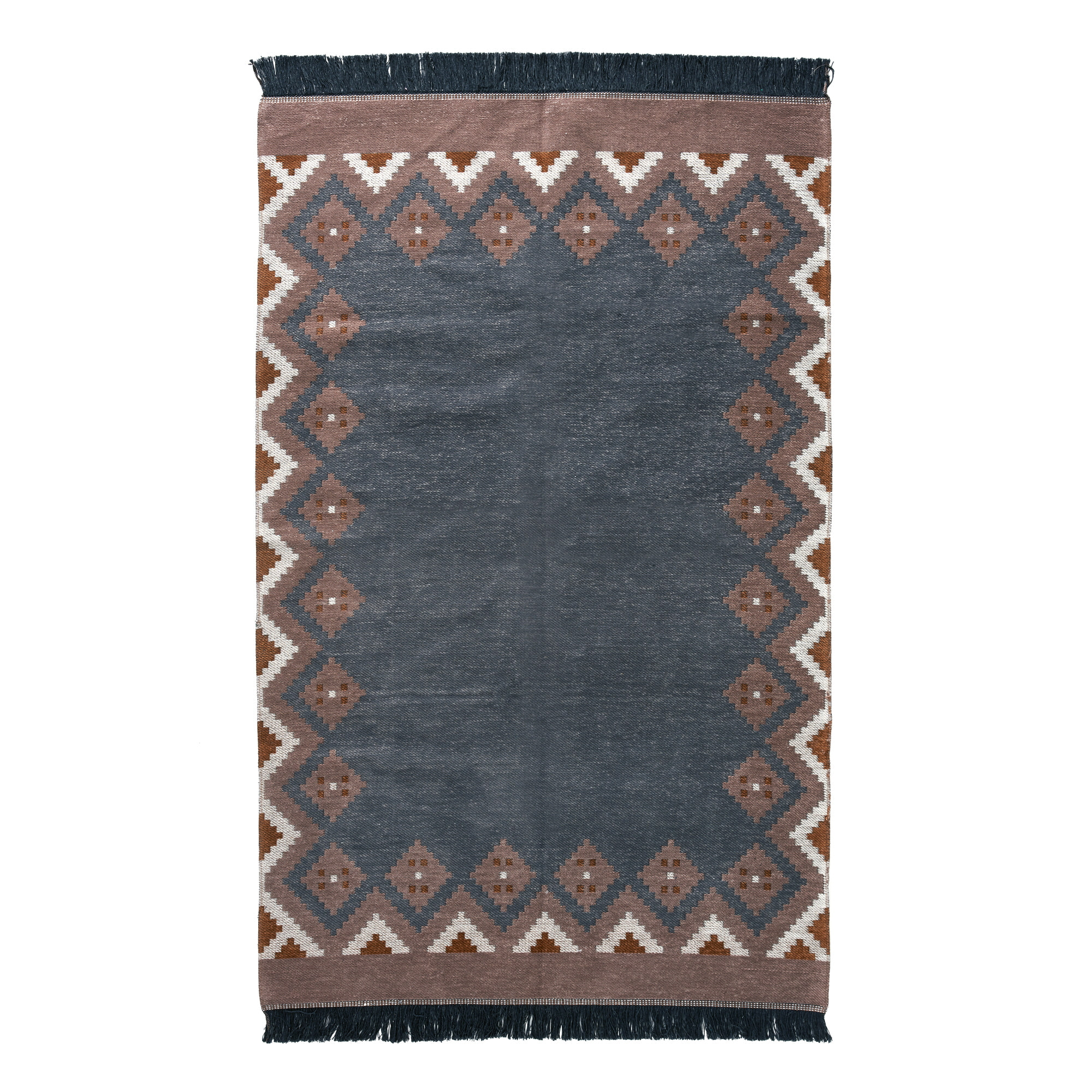 KILIM RUG(L) - gray brown