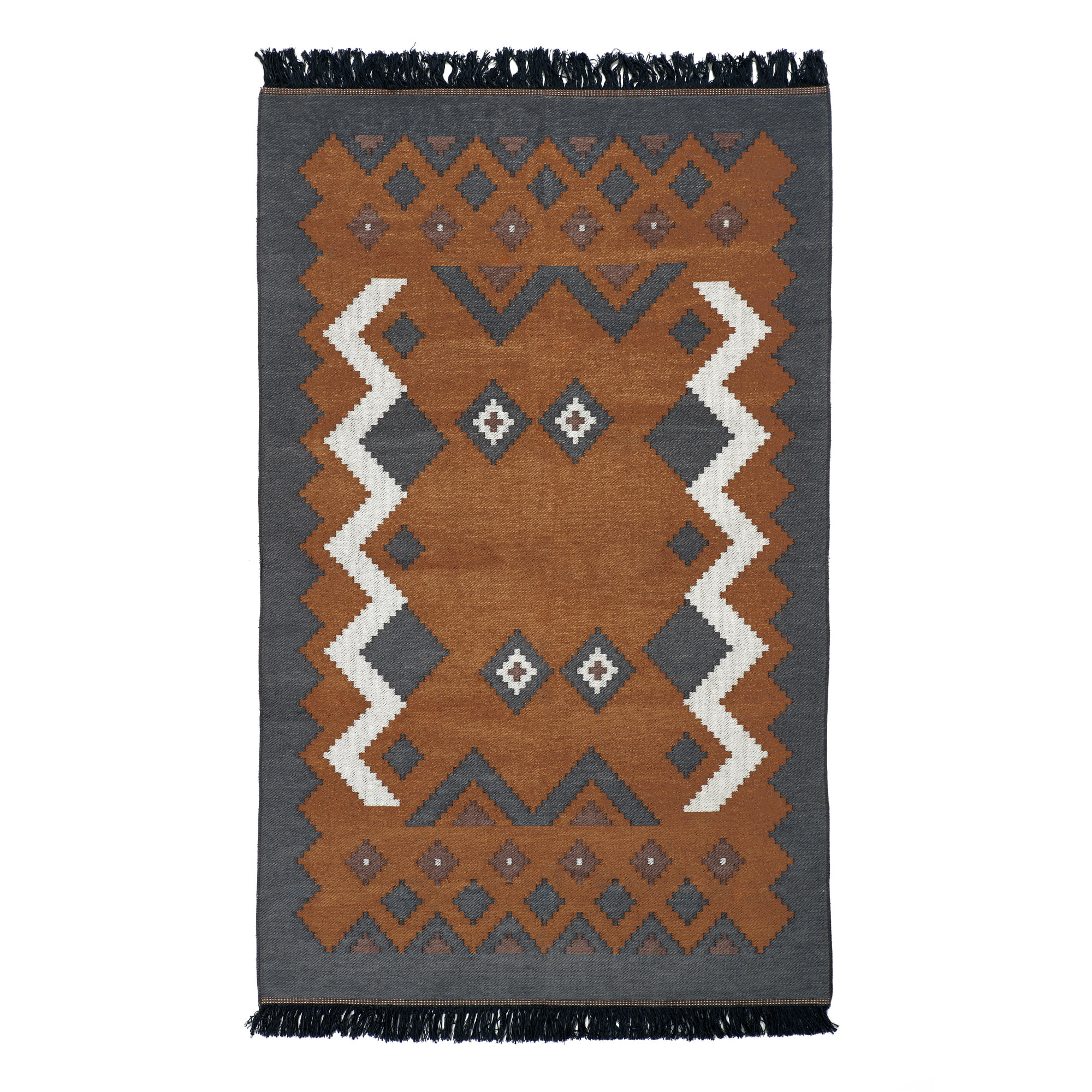 KILIM RUG(L) - brown gray